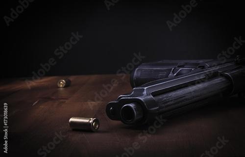 Dark crime scene Fototapete