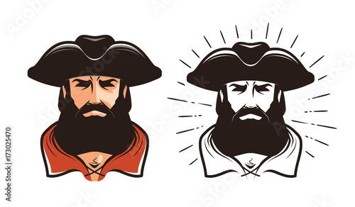 Fotografía  Portrait of bearded man in cocked hat
