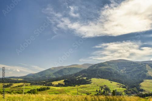 Fototapeta Viewn on the mountains. Carpathians, Podobovets obraz na płótnie
