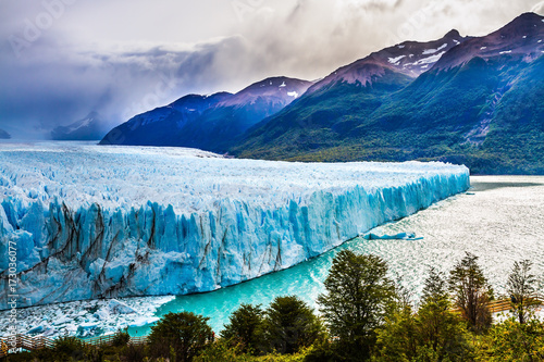 Tuinposter Gletsjers Lake Argentine in province of Santa Cruz
