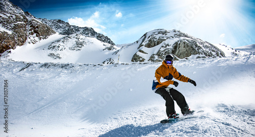 Poster Glisse hiver winter skier