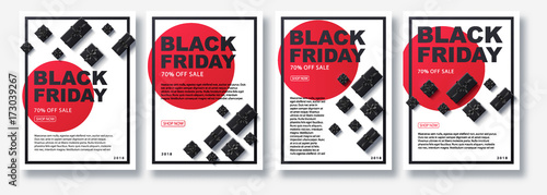 Fotomural  black Friday 2018 place for text christmas boxes top view design
