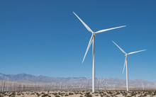 Wind Turbines In Palm Springs,...
