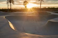 Skate Park At Sunrise