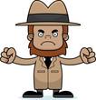 Cartoon Angry Detective Sasquatch