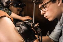 Tattoo Session  In Retro Vinta...