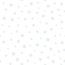 Snowflake Seamless Pattern. Monochrome Abstract Vector Texture.
