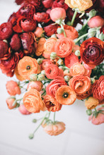 Spring Flowers Bouquet With Or...