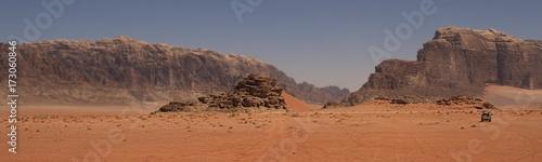 Mars landscape in desert of Wadi Rum Valley, Jordan