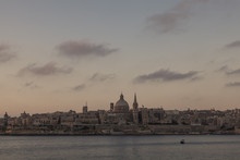 Valletta, Malta - City Skyline At Dawn