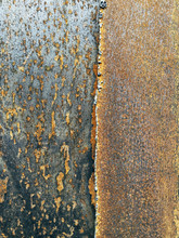 Close Up Of Slabs Of Rusty Steel
