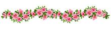 Wave Arrangement Of Petunia Flowers