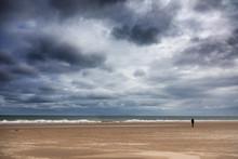Solitary Figure At Harve Aubert Beach