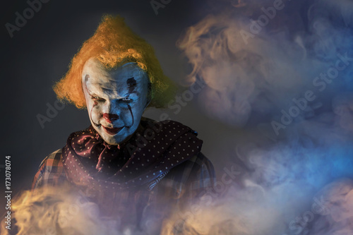 Tablou Canvas scary Halloween clown