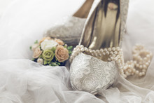 Arranged Bridal Shoes And Acce...