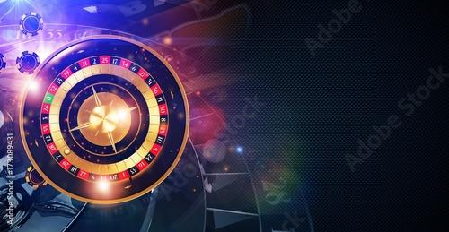 Magic Roulette Game Banner плакат