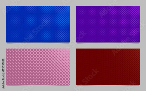 retro halftone circle pattern business card background template