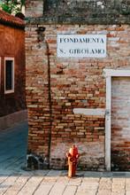 Street Sign In Cannaregio, Ven...