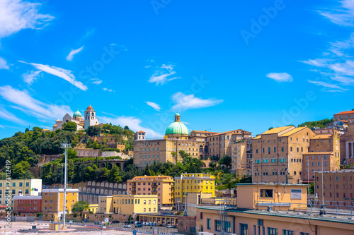 View of the city of Ancona from the port, Italy. Canvas Print
