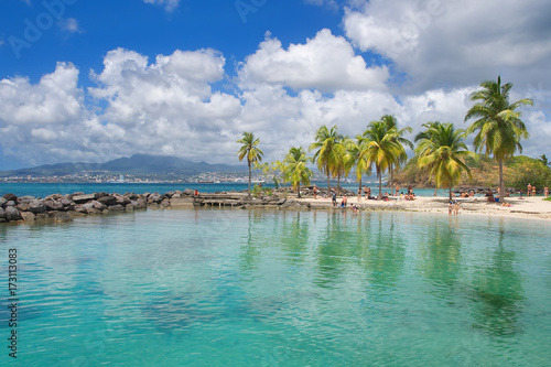 Fotomural Anse Mitan - Fort-de-France - Martinique - Tropical island of Caribbean sea