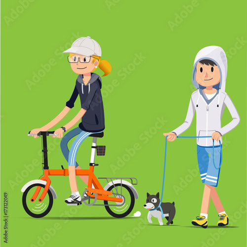 Fotografia, Obraz  Recreation with cycling