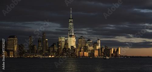 Zdjęcie XXL Lower Manhattan z New Jersey