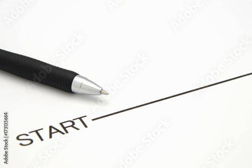 Canvastavla スタートラインとボールペン