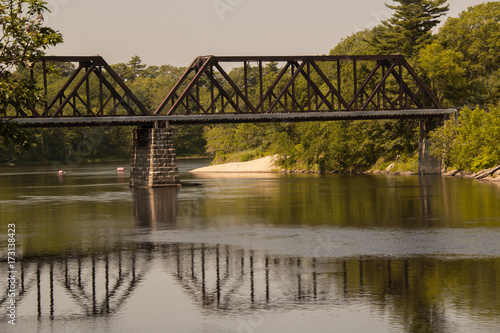 Tablou Canvas Train Trestle Bridge