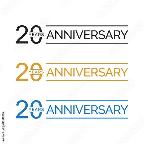 Fotobehang Retro simple 20 years anniversary