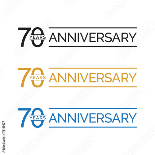 Fotobehang Retro simple 70 years anniversary