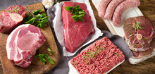 Different Types Of Fresh Raw Meat