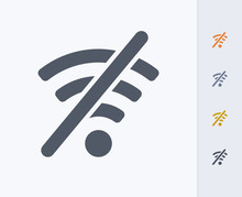 WiFi Off - Carbon Icons. A Professional, Pixel-perfect Icon Designed On A 32 X 32 Pixel Grid And Redesigned On A 16 X 16 Pixel Grid For Very Small Sizes.