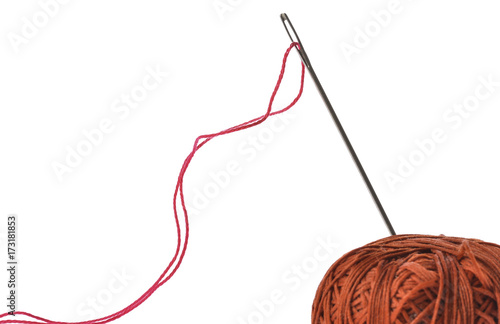 Cool Red Thread In Eye Of Silver Needle Buy This Stock Photo And Wiring Cloud Funidienstapotheekhoekschewaardnl