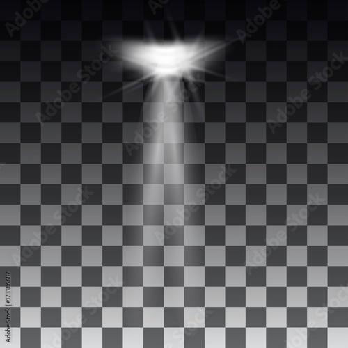 Fototapety, obrazy: Spotlights scene light effects. Stage light spotlight vector. Vector illustration