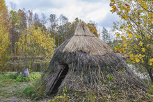 Grass Hut At A Lake In The Aut...