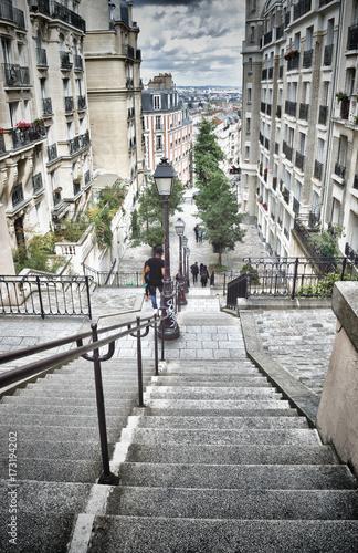 Obraz na dibondzie (fotoboard) Schody Montmartre.