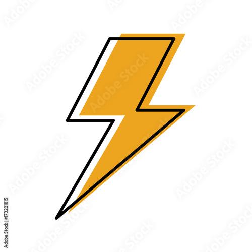 Fototapeta lightning bolt weather storm energy vector illustration obraz na płótnie