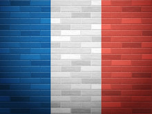 Brick Wall France Flag