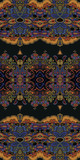Abstract seamless geometric paisley pattern. Traditional oriental ornament. Vibrant colors on dark gray background. Yoga print. Textile design. - 173243651