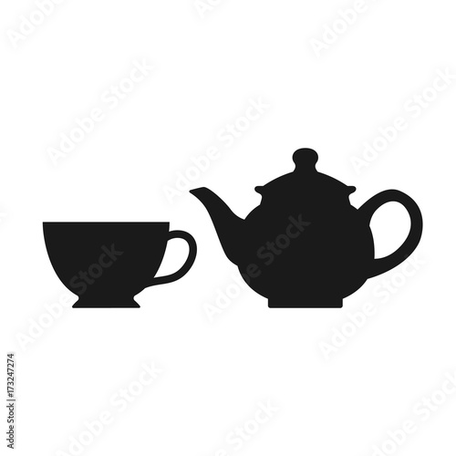 Fototapeta The teapot and cup icon