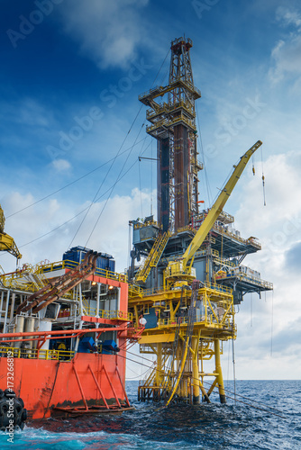 Offshore oil and gas production and exploration, tender rig