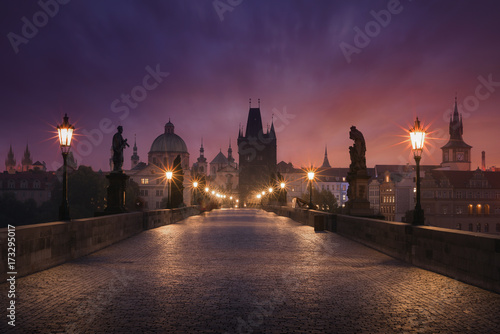 Photo  Sunrise over Prague