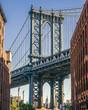 Empire State building through the Manhattan Bridge, NY