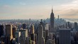 New York and Empire State Building Golden Hour Light Day Timelapse