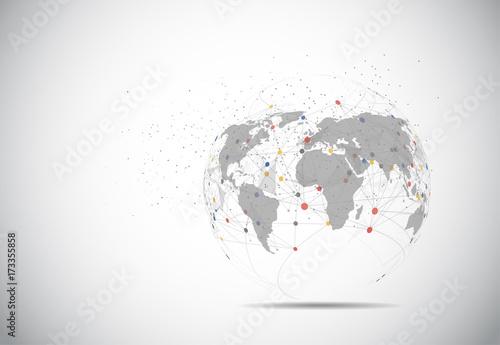 Fotografía  Global network connection