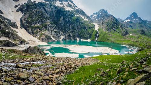 Vászonkép  Beautiful mountain landscape of Sonamarg, Jammu and Kashmir state, India