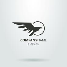 Black And White Hawk Logo