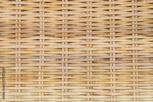 Fotografiet  Closed Up of Rattan Texture of Basket Weave Pattern