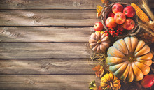 Thanksgiving Background With P...