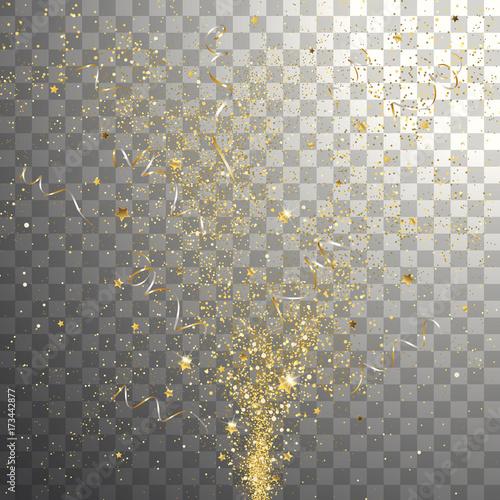 Burst Festive Gold Confetti Canvas-taulu